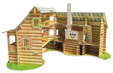 Сборная модель из картона Русская изба (206-01) фотография 3
