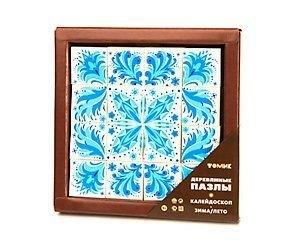 Фото Пазлы деревянные калейдоскоп Зима/Лето 16 дет (124)