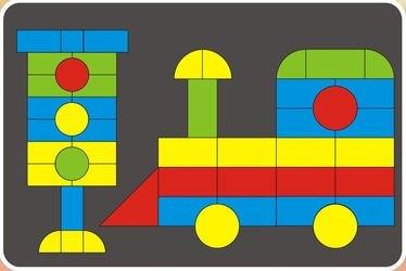 Фото Детская магнитная мозаика деревянная в  коробке 96 дет (7855)
