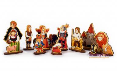 Набор Театр на столе Кот в сапогах деревянный (7741) фотография 4