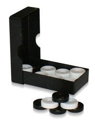 Фото Шашки без игрового поля в черной коробке первый сорт (0039)