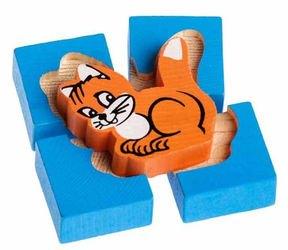 Фото Деревянная развивающая игрушка Собирайка Кошка