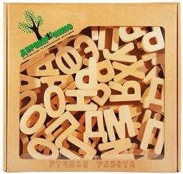 Фото Буквы деревянные неокрашенные 52 шт