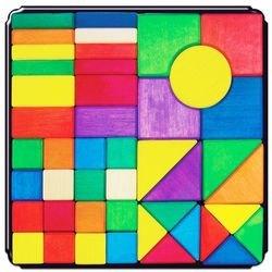 Фото Магнитная мозаика деревянная Геометрические фигуры