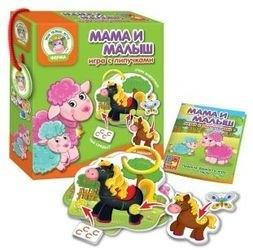 Фото Настольная игра с липучками Мама и малыш (VT1310-02)