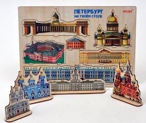 Фото Настольная игра Петербург на твоем столе дерево