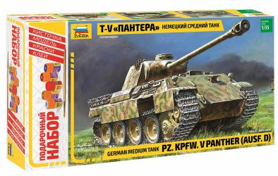Фото Сборная модель Немецкий танк Пантера подарочный набор (3678ПН)