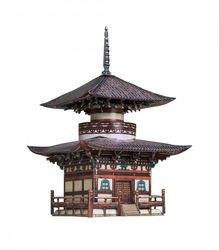 Фото Сборная модель Пагода Хонпо-дзи (327)