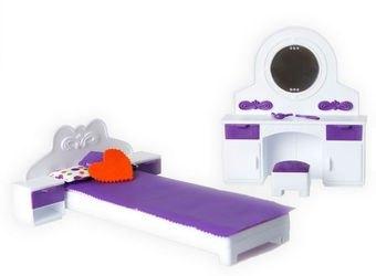 Фото Набор кукольной мебели Спальня Конфетти (С-1331)
