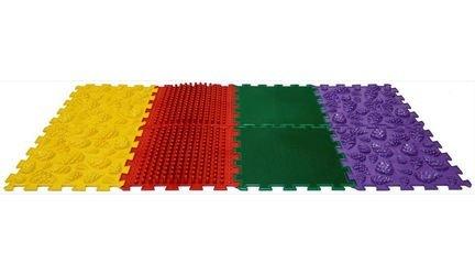 Фото Массажный коврик модульный Орто пазл Микс Лес (8 модулей)