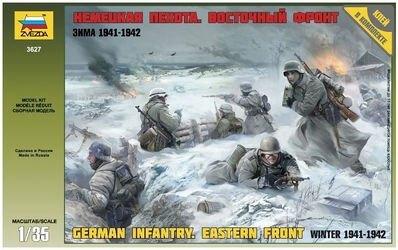 Фото Сборная модель Немецкая пехота в зимней одежде (3627)