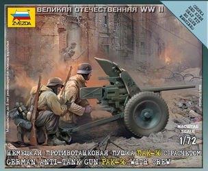 """Фото Сборная модель Немецкая пушка """"ПАК-36"""" (6114)"""