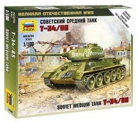 Фото Сборная модель Советский средний танк Т34/85 (6160)