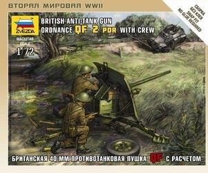 Фото Сборная модель Британская противотанковая пушка QF-2-pdr с расчетом (6169)