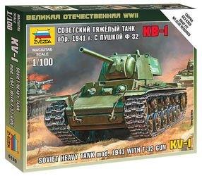 Фото Сборная модель Советский танк КВ-1 с пушкой Ф32 (6190)