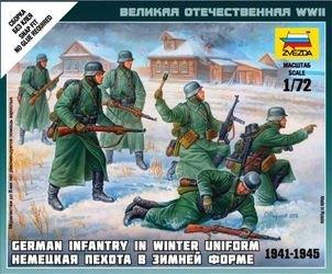 Фото Сборная модель Немецкая пехота в зимней форме (6198)