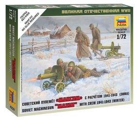 Фото Сборная модель Советский пулемет Максим с расчетом в зимней форме (6220)