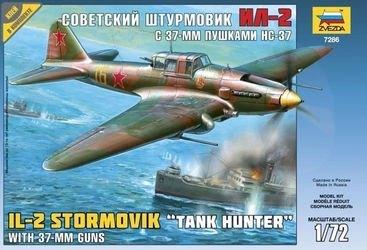 Фото Сборная модель Советский штурмовик Ил-2 с 37мм пушкой НС-37 (7286)