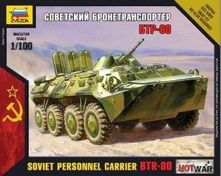 Фото Сборная модель Советский бронетранспортер БТР-80 (7401)