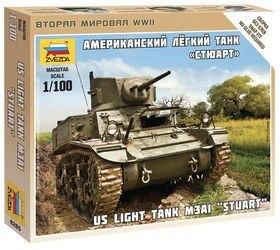 Фото Сборная модель Американский танк Стюарт (6265)