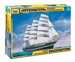 Фото Сборная модель корабля Российский четырехмачтовый барк Крузенштерн (9045)