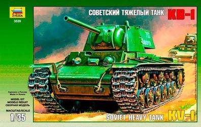 Фото Сборная модель Советский танк КВ-1 склейка подарочный набор (3539ПН)
