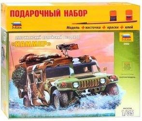 Фото Сборная модель Автомобиля Хаммера склейка подарочный набор (3562ПН)