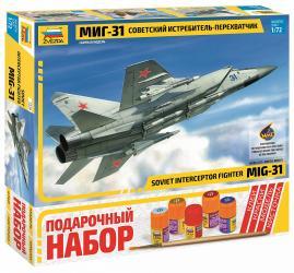 Фото Сборная модель Советский истребитель-перехватчик МиГ-31 Подарочный набор (7229ПН)