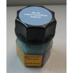 Фото Краска для моделей серо-голубая Акрил-02