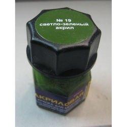 Фото Краска для моделей светло-зеленая Акрил-19