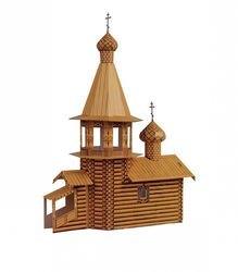 Фото Сборная модель Церковь деревянная (039)