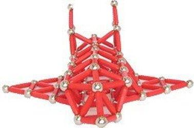 Магнитный конструктор Magneticus (157 эл, красный) фотография 4