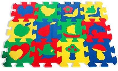 Мягкий детский коврик с силуэтами 14*14 (12 шт.) фотография 1