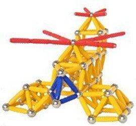 Магнитный конструктор Magneticus (157 эл, желтый) фотография 3
