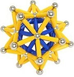 Магнитный конструктор Magneticus (157 эл, желтый) фотография 2