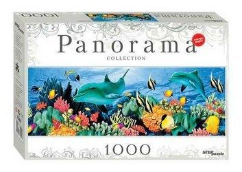Фото Пазл Панорама Подводный мир 1000 элементов (79401)