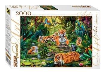 """Фото Пазл """"В джунглях Тигры"""", 2000 элементов (84020)"""