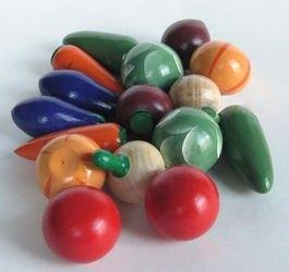 Фото Игрушечный набор Овощи деревянные крашеные (16 шт)
