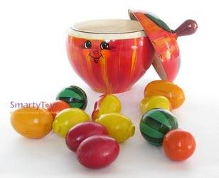 Фото Игрушечный набор Фрукты деревянные в яблоке