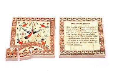 Фото Пазл деревянный Мезенская роспись 16 деталей (135)