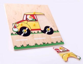 Фото Рамка-вкладыш Автомобиль деревянная (1011)