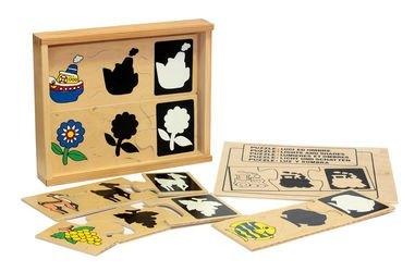 Фото Развивающая игра Свет и тень деревянная (1418)