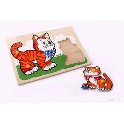 Фото Рамка-вкладыш деревянная Кот и котенок (1407)