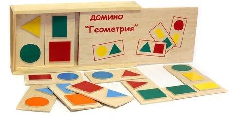 Фото Детское доминодеревянное Геометрия (5009)