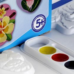 Набор для создания фигурок из гипса на магнитах Цветы фотография 3