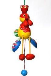 Фото Деревянная игрушка дергунчик Петушок (С112)