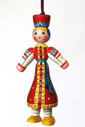 Деревянная игрушка Московская Женщина (С158) фотография 1