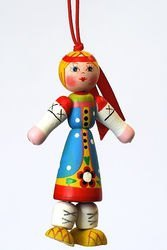 Фото Деревянная игрушка Девочка (С164)