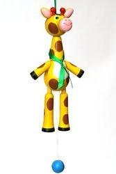 Фото Деревянная игрушка дергунчик Жираф (С67)