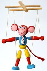 Фото Деревянная игрушка Обезьяна марионетка (СМ2)